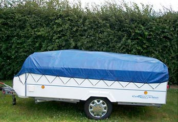 Small trailer easily stored
