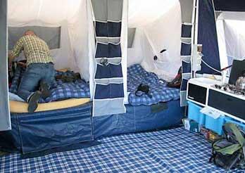 Trailer tent beds & Trailer Tent Advantages